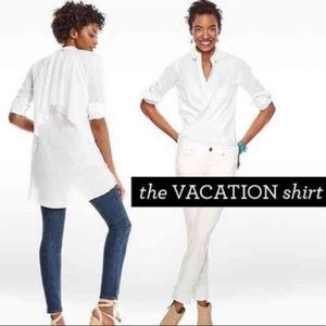 NWT CAbi The Vacation Shirt White Size Small #5057